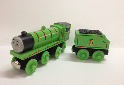 2pcs Set Thomas & Friends Henry and Tender Magnetic Wooden Toy Railway Train