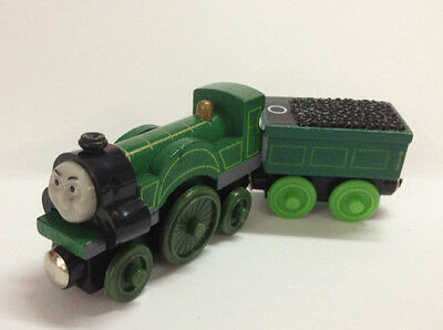 2pcs Set Thomas & Friends Emily and Tender Magnetic Wooden Toy Railway Train NEW