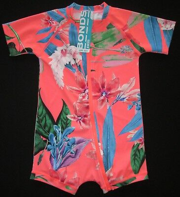 BONDS Baby Girls Bathers Swimmers Swim Floral Sun Suit One Piece UPF 50+ 000 NEW