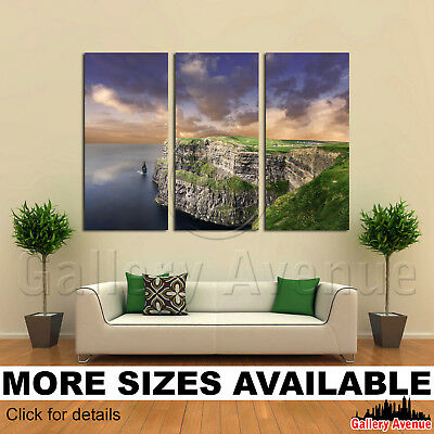 Cliffs of Moher Sunset Ireland 2.1 Wall Art Canvas Picture Print