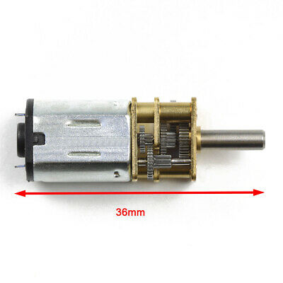 6/12V 30/600/1200RPM Mini DC Metal Gear Motor with Gearwheel Shaft Diameter N20