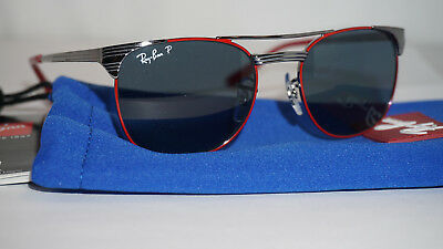 1fbeeed97d RAY BAN JR SIGNET New Sunglasses Silver Red Ble Polrize RJ9540S 218 2V 47 17