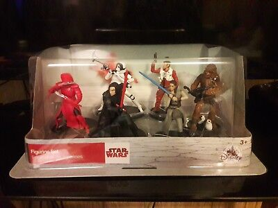 Star Wars The Last Jedi Action Figure Set 6 Figures Disney Store boxed NEW