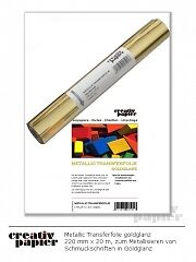 3 ROLLEN METALLIC TRANSFERFOLIE Gold 220mm x 20m