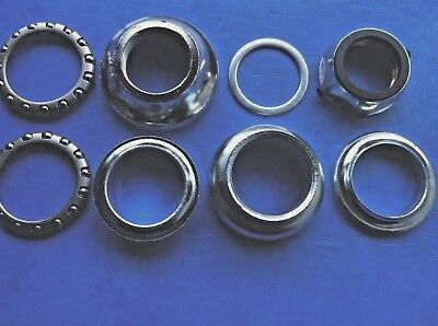 "New Old Stock Chromed Headset,oversize,old School Bmx? 1""x24Tpi,complete-8 Piece"