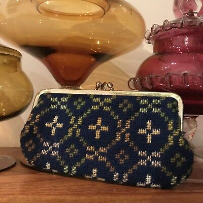 Beautiful Vintage Welsh Wool Large Coin Purse