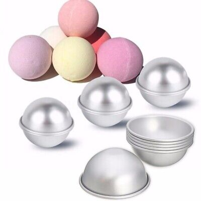 6pcs 3 Set Aluminum Bath Bomb Molds DIY Bath Fizzy Sphere Round Ball Molds