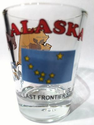 Alaska The Last Frontier State All-American Collection Shot Glass Shotglass