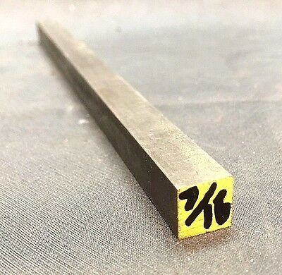 "1018 Steel Bar, Cold Drawn Square .437"" (7/16"") x 12"" length"