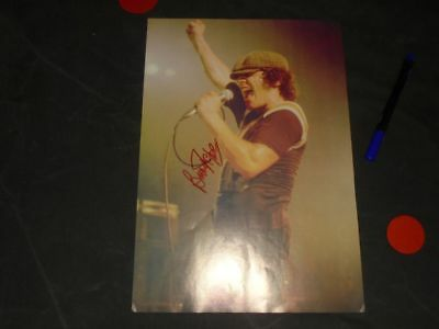 Brian Johnson - Autogramm - Autograph - signed - dedicace - AC DC - In Person
