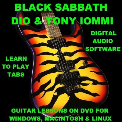 Black Sabbath 431 DIO 135 Tony Iommi 19 Guitar TABS Lesson CD 93 BTs + BONUS