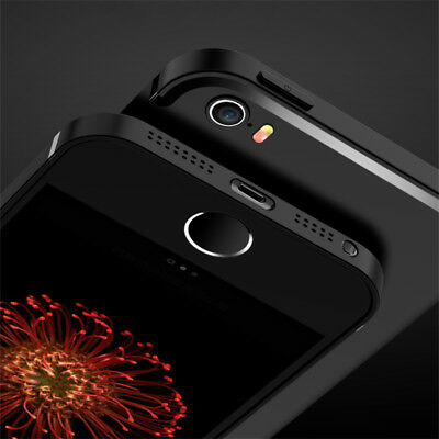 For iPhone SE 5 5S Shockproof 360° Full Cover Matte Soft Silicone TPU Case Skin