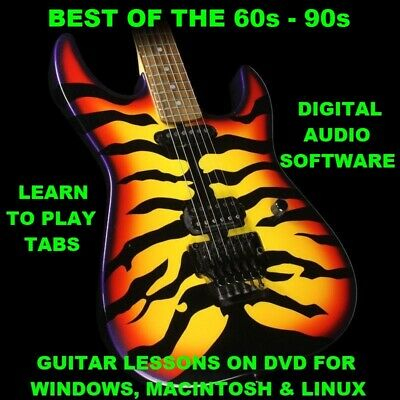Best of The 60s - 90s 1200 Guitar Tabs Software Lesson CD & 902 Backing Tracks