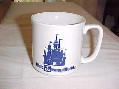 Walt Disney World Blue Cinderella Castle Coffee/Tea Mug Cup Vintage Japan