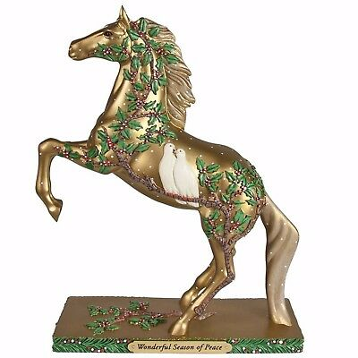 Trail of Painted Ponies Wonderful Season of Peace Horse Figure 4058170 New