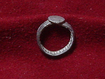 Early medieval silver knight,s ring