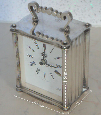 Silver Plated Astral Made In Great Britain Table Clock