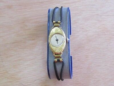 ART DECO 1920s LADIES SWISS GOLD 18K WATCH SAPHIRE CROWN-WORK