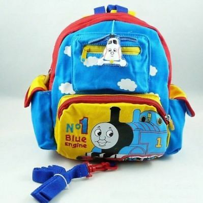 Cute Train Baby Toddler Safety Canvas Harnesses Rein Strap Backpack Rucksack Bag