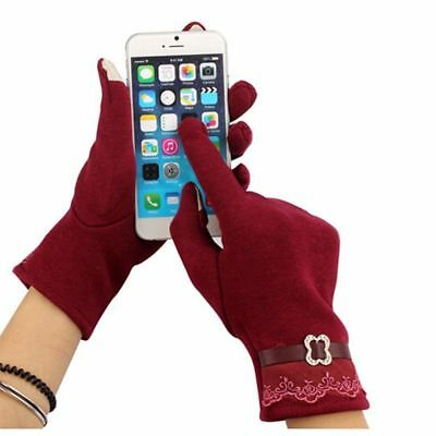 Knitted Hot Cotton Stylish Good Quality Lace Women Velvet Gloves Touch Screen