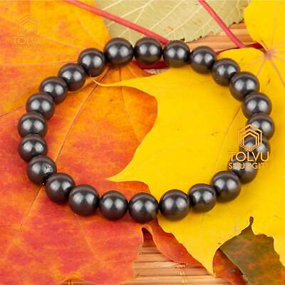 Bracelet of rare healing stone Shungite the nature stone Tolvu only real