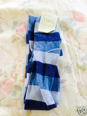 Story Loris Boys' Grey/Blue/Navy Long Argyle Socks (Size 9-10)-MSRP:  $22.00
