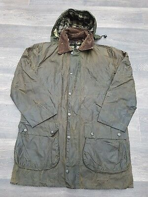 Mens Barbour A200 Border Wax Jacket Green Size C40 102cm  #G54