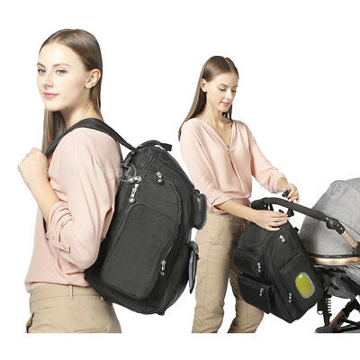Prettyia Nappy Stroller Bag Large Capacity Travel Backpack Nursing Baby Care