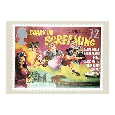 CARRY ON SCREAMING FILM POSTER ARTWORK CARRY ON and HAMMER FILMS PHQ312 POSTCARD