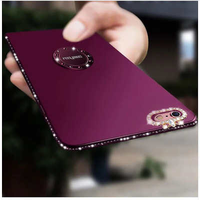 Luxury Bling Diamond Ring Holder Stand Phone Case Cover For iPhone X 8 7 6s Plus