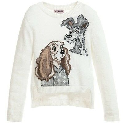 Monnalisa Baby Ivory Lady And The Tramp Sweater 2 Years