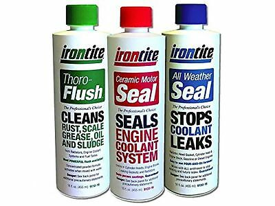 3 Pack of Irontite Additives - Thoro-Flush All Weather Seal and Ceramic M