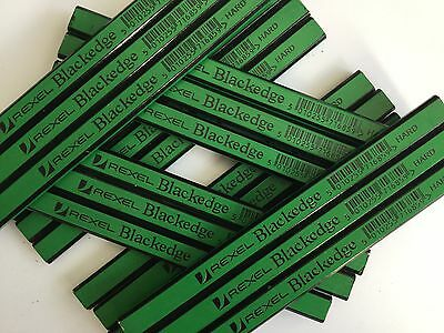 CARPENTERS PENCILS 2H (hard) green 20 X pencils REXEL BLACKEDGE easy sharpening