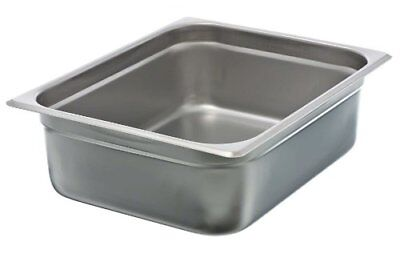 "Update International NJP-504 4"" Half-Size Anti-Jam Steam Table Pan"