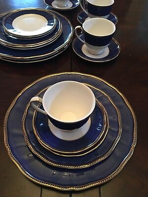 Wedgwood Crown Sapphire 5pc Place Setting