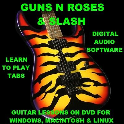 Guns N Roses 411 Slash 283 Guitar TABS Lesson CD 116 Backing Tracks + MEGA BONUS