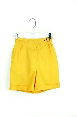 90's Vintage Womens Shorts Yellow Vintage High Waist Hip Hop 8/M