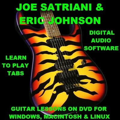Joe Satriani 341 & Eric Johnson 73 Guitar TABS Lesson CD 150 BTs + MEGA BONUS