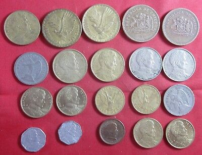 20 vintage Chile coins