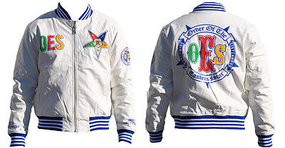 Order of the Eastern Star OES Jacket- White- Size Small-New!