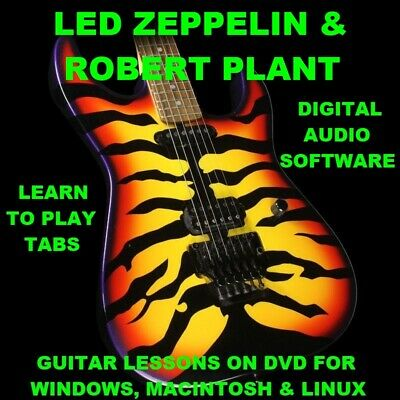 Led Zeppelin 556 Robert Plant 65 Guitar TABS Lesson CD 83 Backing Tracks + BONUS