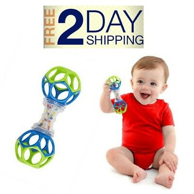 Oball Shaker Rattle Best Baby Teething Toy Fun Sounds Colorful Bead Bpa Free NEW