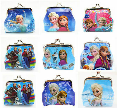 1Pcs Frozen Coin Purse Girl Boy Kids Wallet Elsa Anna Party School Birthday Gift