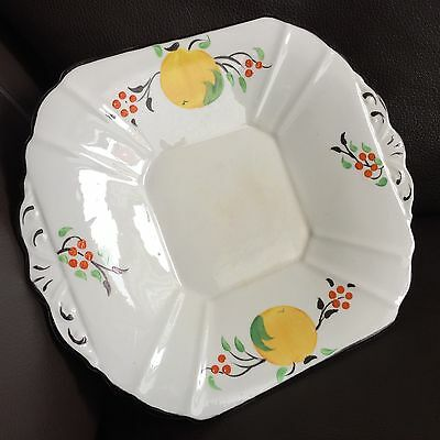 Antique Art Deco (1930s) Crown Bone China Dainty Shape Hand Decorated Cake Plate