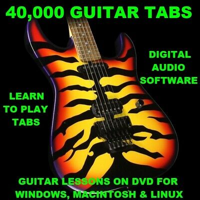 40,000 Guitar Tabs Software Lesson CD All Genres & 804 Backing Tracks