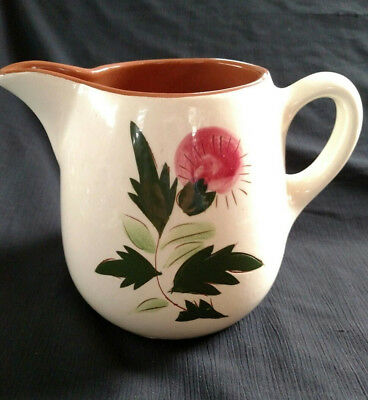 """32 oz Stangl Thistle Pitcher w Ice Lip  5-3/8"""" tall"""