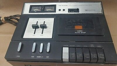 Realistic SCT-17 Stereo Cassette Tape Deck Wood Grain Vintage 1970s Works Great