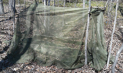 Good Large US Military Mosquito Insect Net Bar Cover Canopy Field Camping