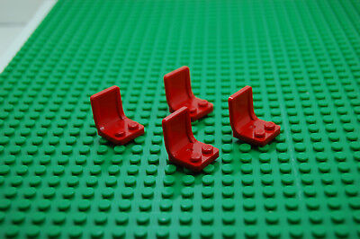 LEGO Parts~(4) Vehicle car ship Seat 2 x 2 RED 4079