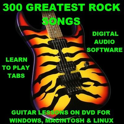 300 Greatest Rock Songs Guitar Tabs Lesson DOWNLOAD CD & 300 Backing Tracks
